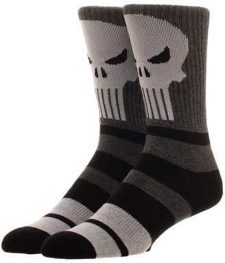 Bioworld Men's Licensed Punisher - Varsity - Crew Socks O/S