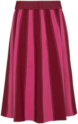 Valentino A-line midi skirt with contrasting panels