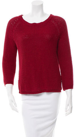 By Malene Birger Rib Knit Open Back Sweater