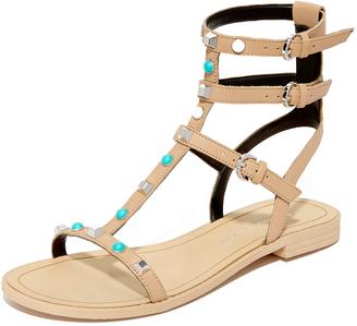 Rebecca Minkoff Georgina Too Studded Sandals $125 thestylecure.com