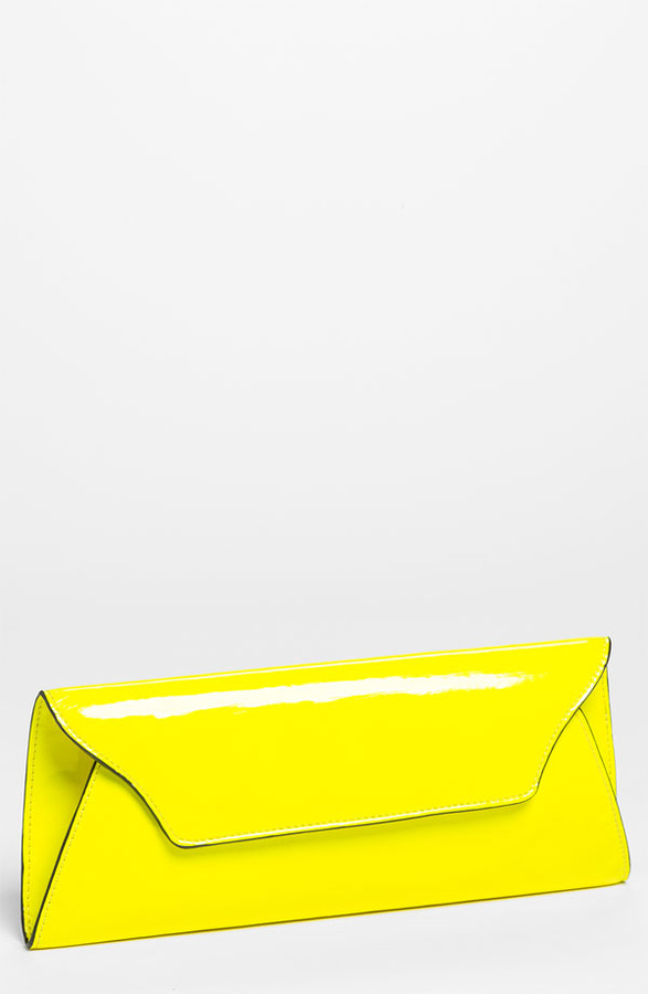Melie Bianco 'Riley' Faux Leather Envelope Clutch