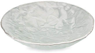 "Michael Aram 11"" Ginkgo Glass Bowl - Silver"