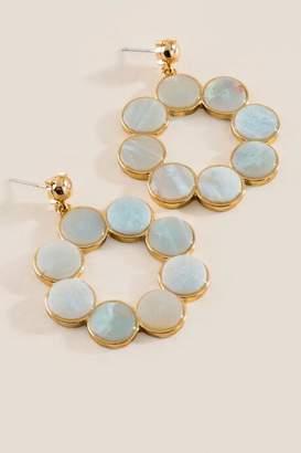 francesca's Victoria Semi Precious Earrings - Mint