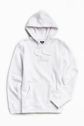 Stussy Stock Embroidered Hoodie Sweatshirt $85 thestylecure.com