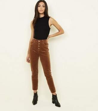 New Look Camel Corduroy High Rise Super Skinny Dahlia Jeans