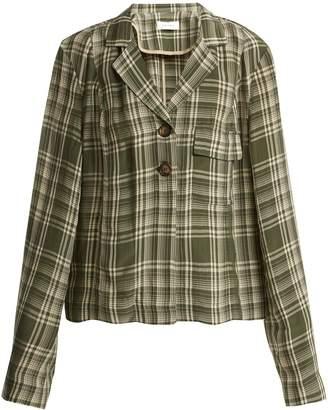 Wales Bonner Checked long-sleeved jacket