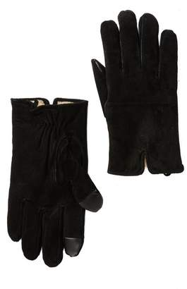 Levi's Faux Shearling Lined Suede Gloves