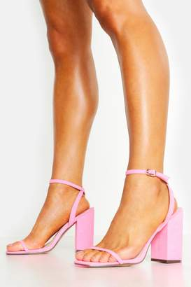 boohoo Square Toe Two Part Heels