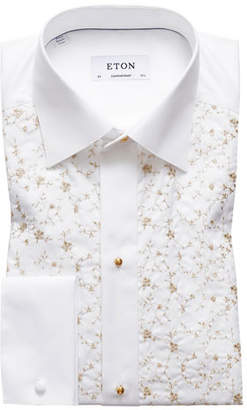 Eton Men's Contemporary Fit Floral-Detail Formal Dress Shirt