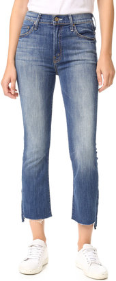 MOTHER The Insider Crop Step Fray Jeans $228 thestylecure.com