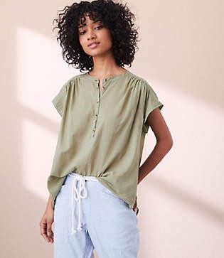 Lou & Grey Garment Dye Henley Shirt