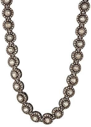 Munnu Women's Single Line White Diamond Necklace