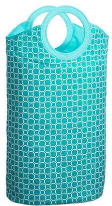 Pottery Barn Teen Easy Carry Laundry Bag, Aqua Geo Rings