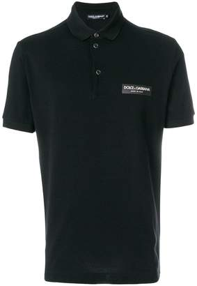 Dolce & Gabbana slim fit logo polo shirt