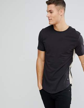 ONLY & SONS Longline T-Shirt With Side Panel Detail