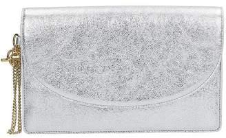 Diane von Furstenberg Silver Leather Clutch
