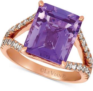 LeVian Le Vian Amethyst (5-1/2 ct. t.w.) & Nude Diamond (5/8 ct. t.w.) Ring in 14k Rose Gold