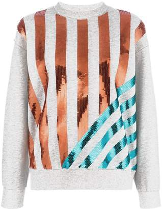 Kenzo sequin striped sweatshirt
