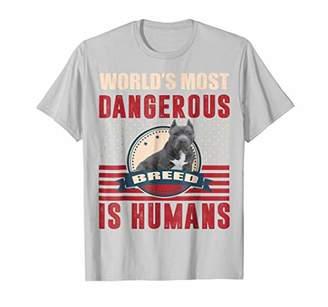 Breed American Bully Pitbull Humans Dangerous T-Shirt