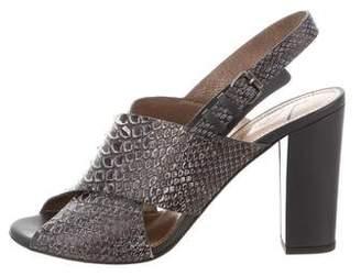 Lanvin Snakeskin Slingback Sandals