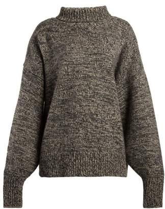 The Row Phelania Oversized Cashmere Sweater - Womens - Grey Multi