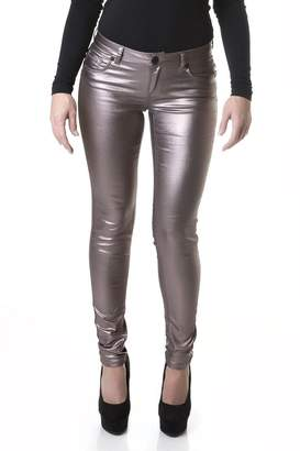 Suko Jeans Suko Women's Ponte Leggings -Stretchy Faux Leather Skinny Pants 18326