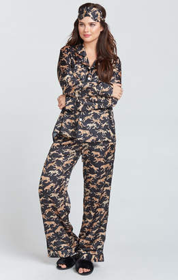 Show Me Your Mumu Paige PJ Set With Eye Mask ~ Mucci Cat Black