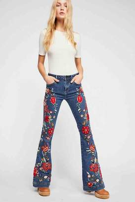 Driftwood Farrah All Embroidered Flare Jeans