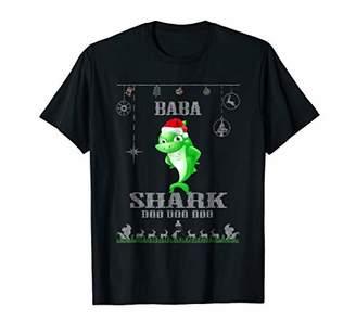 Baba Shark Santa T Shirt Christmas Family Matching Tees