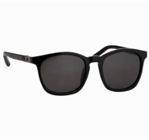 linda farrow x alexander wang Alexander Wang Round Sunglasses in Black