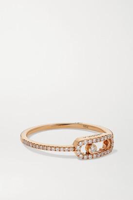 Messika Move Uno 18-karat Rose Gold Diamond Ring - 53
