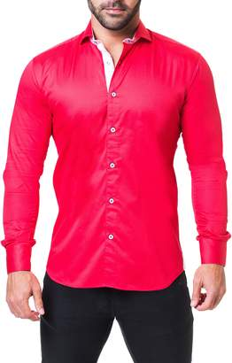 Maceoo Einstein Satin Regular Fit Sport Shirt