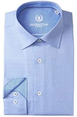 Bugatchi Solid Texture Shaped Fit Dress Shirt