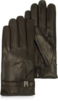 Moreschi Alaska Dark Brown Leather Men's Gloves w/Cashmere Lining