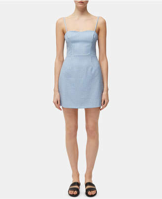 French Connection Gingham-Print Tie-Back Dress