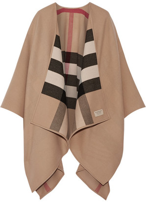 Burberry - London Reversible Checked Merino Wool Wrap - Camel $950 thestylecure.com