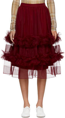 Molly Goddard Burgundy Akuac Skirt