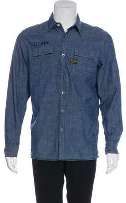 G Star Woven Chambray Shirt