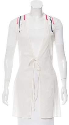 Christian Dior Sleeveless Silk-Blend Cover-Up