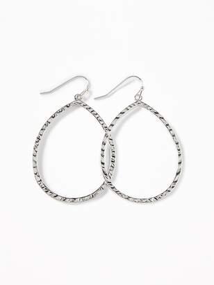 Old Navy Hammered-Metal Teardrop Hoop Earrings for Women