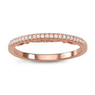 Vera Wang Simply Vera 14k Rose Gold 1/10 Carat T.W. Diamond Ring