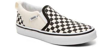 b1129773cb Vans Asher Checkers Toddler   Youth Slip-On Sneaker - Girl s