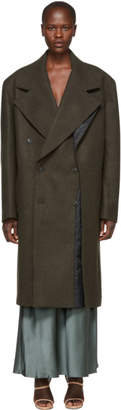 Y/Project Brown Double Panel Coat