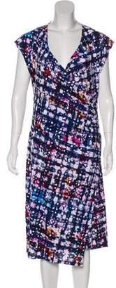 Robert Rodriguez Abstract Print Midi Dress