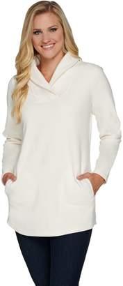 Denim & Co. Shawl Collar A Line Long Tunic with Pockets