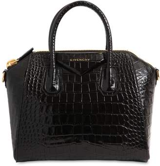Givenchy ANTIGONA CROC EMBOSSED LEATHER BAG