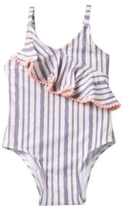 Jessica Simpson Quicksilver Stripe One Piece Bathing Suit (Baby Girls 12-24M)