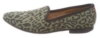 Del Toro Round-Toe Animal Print Loafers