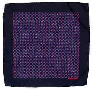 Hermes Silk French Horn Print Pocket Square