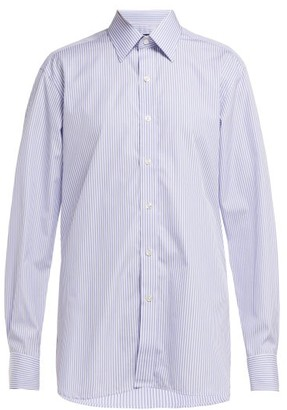 Emma Willis - Bengal Striped Cotton Shirt - Womens - Blue White